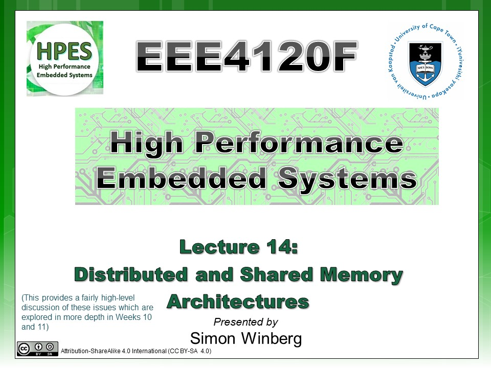 Eee410f High Performance Embedded Systems